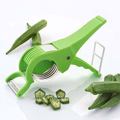 DN BROTHERS Vegetable Cutter with Peeler, Multicolored (Set of 2)