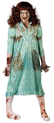 Halloween Exorzist Kostüme (Herren Damen Besessen Mädchen Exorzist Halloween Kostüm Kleid)