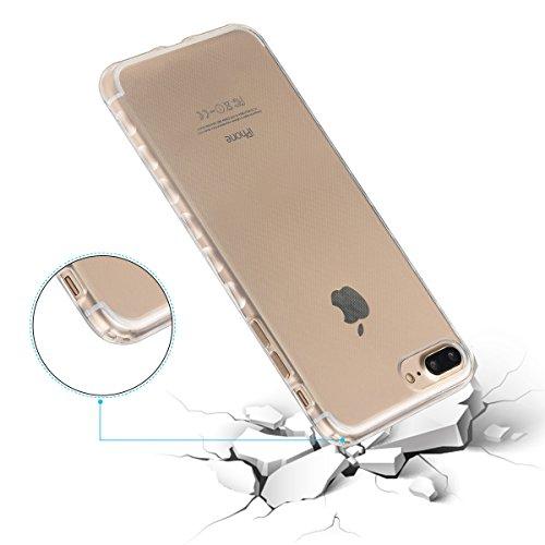 iPhone 7 Plus Coque,iPhone 7 Plus Housse Diamant,ETSUE Mode Luxe Miroir Bling Glitter iPhone 7 Plus Silicone Coque Luxueux Crystal Scintiller Doux Coque Bague Etui Rose Romantique Élégant Fleur Couron Pur Transparent