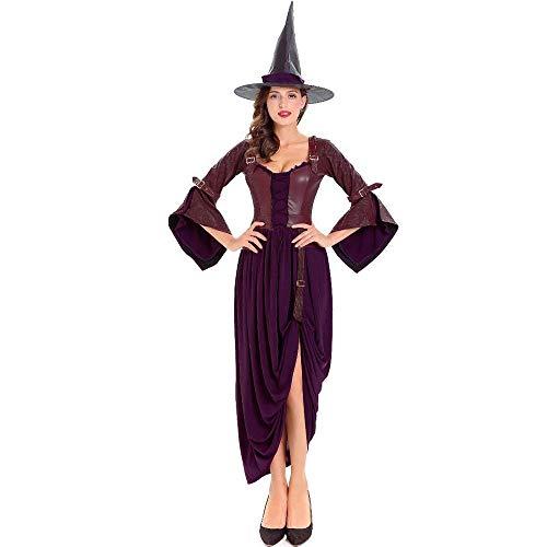 Sexy Kunstleder pu Halloween kostüm Hexe kostüm Cosplay Rollenspiel Hexe Anzug, geeignet für (Böse Hexe Des Westens Sexy Kostüm)