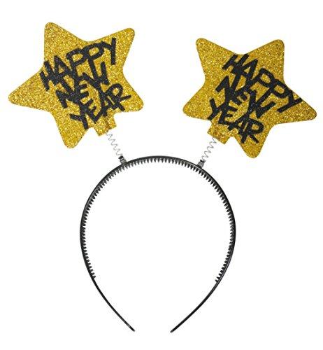 Wabbles Silvester metallic gold HAPPY NEW YEAR Haarreif -