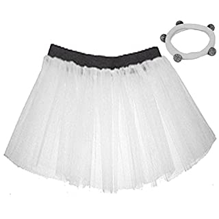 A-Express® Neon White Tutu Skirt 1x Shamballa Fits Adult Plus Size (18 to 24)