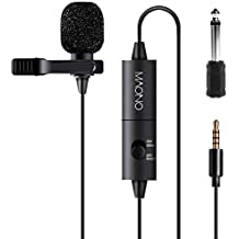 (Renewed) Maono AU-100 Condenser Clip On Lavalier Microphone with 6 Meters Audio Cable