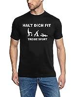 Coole-Fun-T-Shirts Herren T-Shirt HALT DICH FIT, TREIBE SPORT persiflage