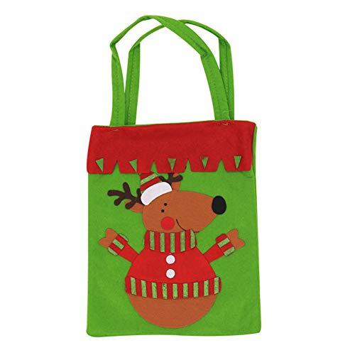 AAGOOD Weihnachten Süßigkeiten Geschenk-Taschen kleine Handtasche Treat Tragetasche für Kinder Kinder Wohnkultur Einkaufen (Reno) (Weihnachten Geschenk-taschen Klein)