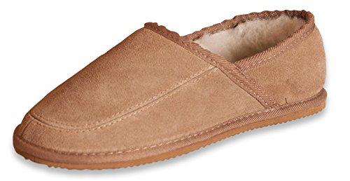 Nordvek - Pantofole in camoscio e lana donna # 444-100 - Castagna - 39 EU / 6 UK