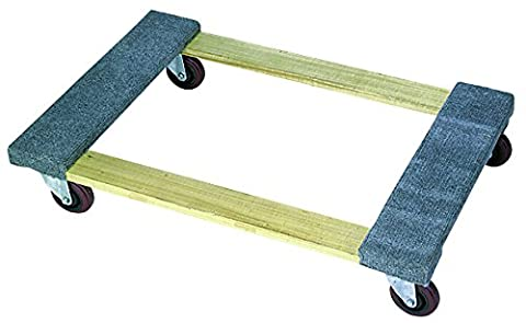 Wesco Industrial Products 272070 Wood Open Deck Carpet Ends Dolly with 4
