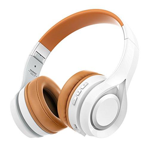 NUBWO-S1-Bluetooth-41-Inalmbrico-Auriculares-Plegable-Estirable-Multi-fonction-Cancelacin-de-Ruido-con-Micrfono-en-Lnea-y-Audio-Compatible-con-Smartphone-Tableta-PC-Smart-TV-Blanco