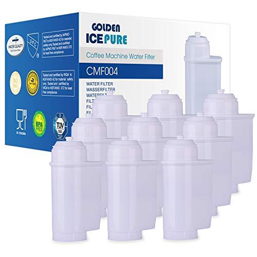TÜV SÜD, NSF zertifiziert kaffeevollautomat wasserfilter Kompatibel mit Siemens EQ Series, EQ 6, Siemens TZ70003, TCZ7003, TCZ7033, Brita Intenza 9 Stück von GOLDEN ICEPURE CMF004 (rechnung vorhanden)