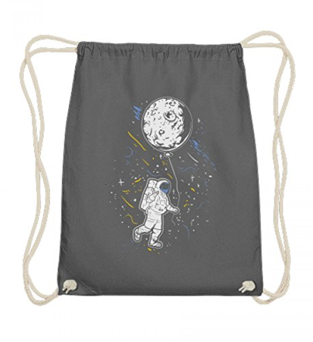 Hochwertige Baumwoll Gymsac - Astronaut Mit Ballon - Mond Weltraum Raumfahrer Galaxie Science Fiction Sci-Fi ()