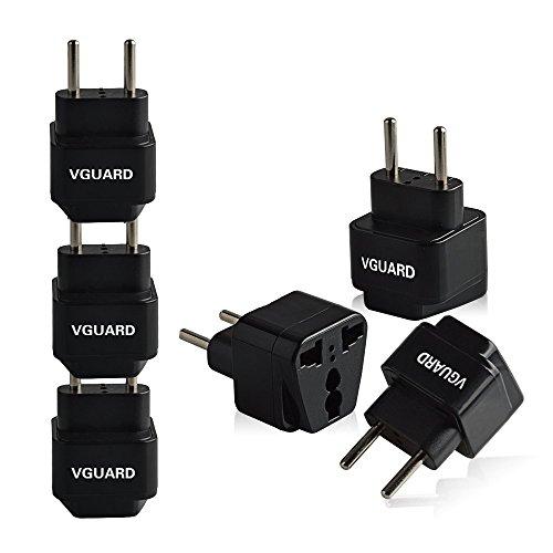 [3 Unidades] VGUARD Universal Adaptador de Enchufe UK US AU a UE...