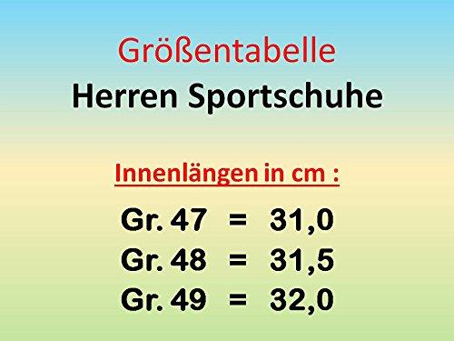 GIBRA® Herren Sportschuhe, sehr leicht und bequem, schwarz/neonorange, Gr. 47-49 Schwarz/Neonorange