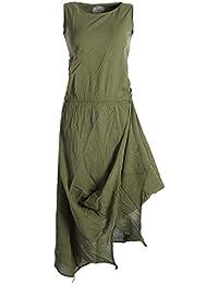 Vishes - alternative Bekleidung - Ärmelloses lagenlook Kleid aus Baumwolle zum Hochbinden