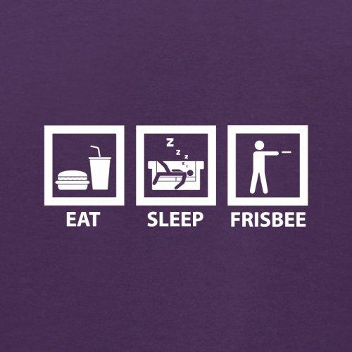 Eat Sleep Frisbee - Herren T-Shirt - 13 Farben Lila