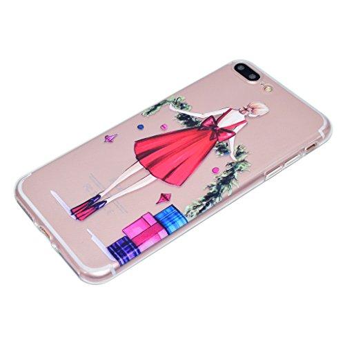 """Hülle für Apple iPhone 7 Plus , IJIA Transparent Erde dream Girl TPU Weich Handyhülle Silikon Stoßkasten Cover Schutzhülle Handytasche Schale Case Tasche für Apple iPhone 7 Plus (5.5"""") TT15"""