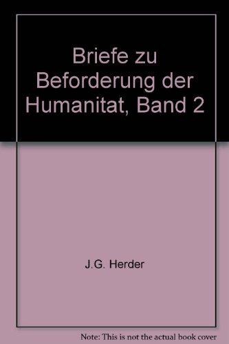 Briefe zu Beforderung der Humanitat, Band 2