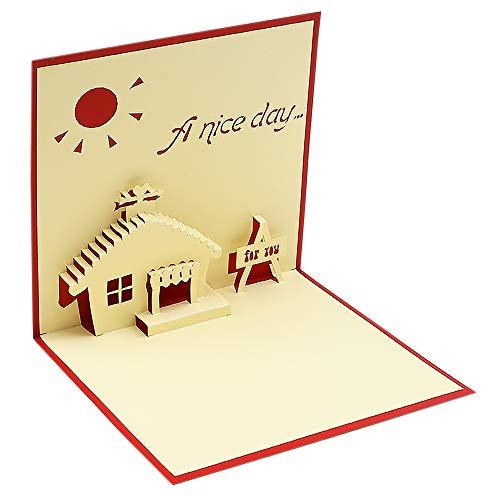 A nice day - 3D Karte Popup Karten Jubiläum Karte Popup Karte Dankeskarten Geburtstagskarten Grußkarten Happy New Year Karten - Bestes Geschenk für Ihren Partner