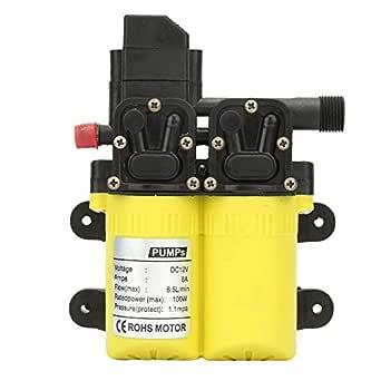 pompa acqua a diaframma autoadescante a doppia aspirazione 12V 100W adatta per la pulizia di roulotte giallo imbarcazioni Pompa acqua 3208 auto ecc.