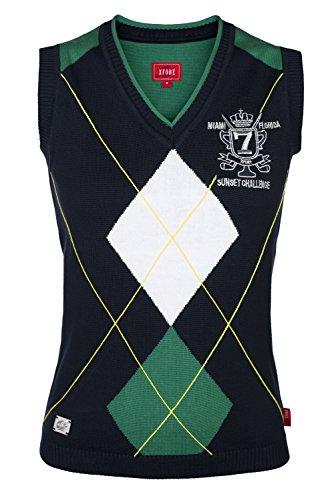 XFORE Golf Damen Pullunder mit Rautenmuster Elverson, in Blau, Größe XL