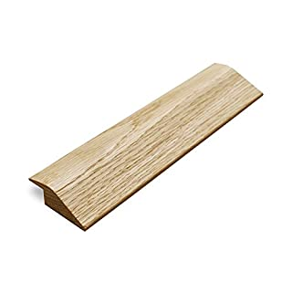 Solid Oak 18mm 'R Section' Ramp Door Bar Threshold 0.9m Pre-Finished & Unfinishe Available (Pre Finished (Lacquered) Oak)