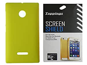 Toppings Hard Case Cover With Screen Guard For Microsoft Lumia 532 - Yellow