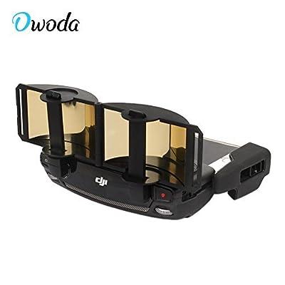Owoda Updated Foldable Parabolic Antenna Signal Range Booster Extended Range Remote Controller FPV Signal Enhance Board for DJI Mavic Pro / Spark (Gold)