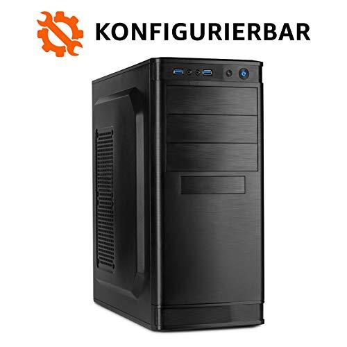 dercomputerladen Office PC Intel - wählbar bis Intel i9-9900K, 32GB DDR4-3000, GTX1660Ti, 1TB SSD, 4TB HDD, Win10 Pro, Bundle-Option, Spiele Computer Desktop Rechner Konfigurator