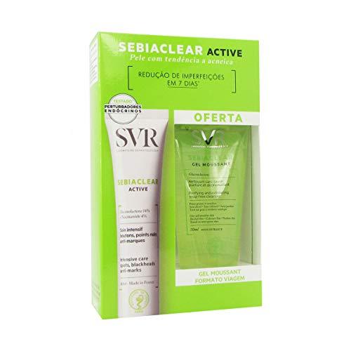 SVR Sebiaclear Active 40 ml + Gel Moussant 50 ml Offert