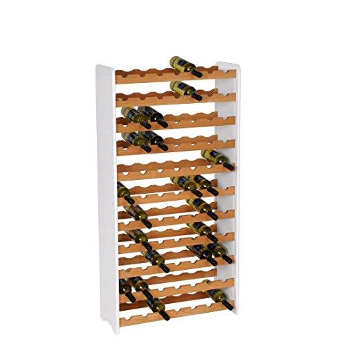 Weinregal / Flaschenregal System OPTIPLUS PREMIUM Modell 4, Holzverbundstoff, weiß, für 77...