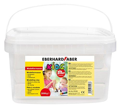 Eberhard Faber 570103 - Modelliermasse EFA Plast Kids, 3 kg, weiß