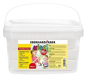 Eberhard Faber 570103 - Pasta de modelar para niños (3 kg), Color Blanco