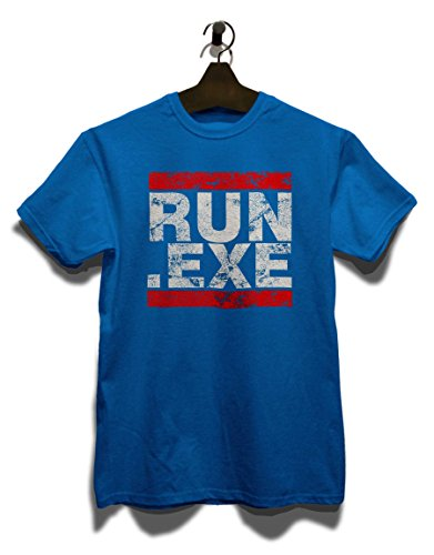 Run Exe Vintage T-Shirt Royal Blau