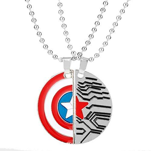 Soldier Captain America Halskette Schild Zeichen Logo Mann Anhänger Die Avengers Besten Freund/liebhaber Halskette ()