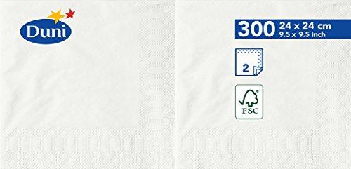 Duni 1683962lagig Tissue Servietten, 24cm x 24cm, weiß (2400Stück) - Wirtschaft Tissue-papier