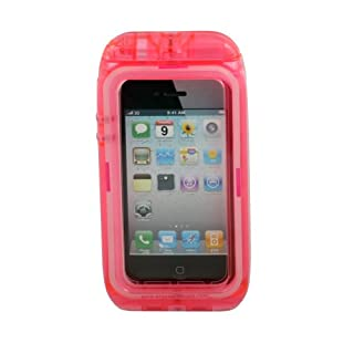 Aryca WS13P Wave 2 Waterproof Case for iPhone 4/4S - 1 Pack - Retail Packaging - Pink