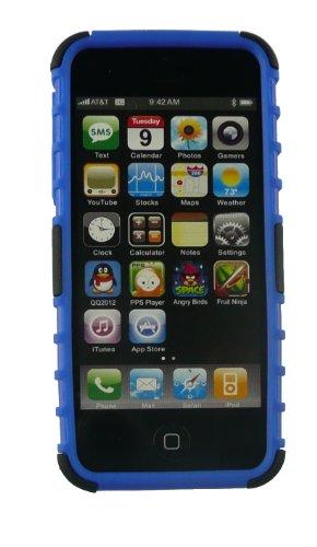 Emartbuy® Apple Iphone 5s 5 Double Couche Robuste Forte Protection Étui Coque Case Cover Avec Construit en Stand Rouge / Noir Double Couche Etui Blanc / Noir