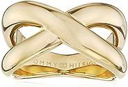 خاتم من الستيل للنساء مطلي بطلاء ايوني ذهبي من تومي هيلفجر، - 2700964B