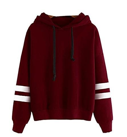 Rcool Pullover Langarm Hoodie Sweatshirt Kapuzen Pullover Kapuzenpullover Rot (L)