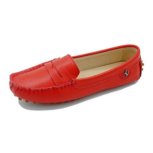 Minitoo ,  Damen vorne geschlossen Smooth Leather-Red