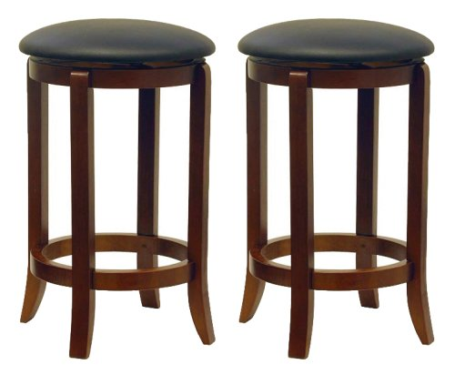 winsome-wood-24-inch-set-of-two-black-pvc-seat-bar-stools-walnut