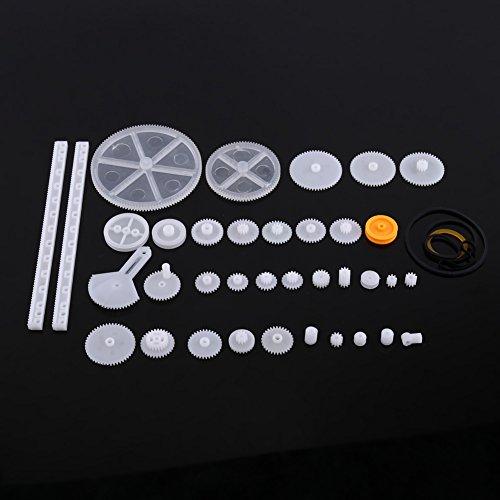 Plastik-Motor-Zahnräder DIY Roboter Gang Ausrüstungs Riemenscheiben Gurt Einzelne / Doppelte Kronen Wurm Gänge DIY Auto-Roboter(34er)