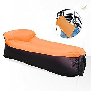 Waitiee Tragbares Aufblasbares Air Sofa, Wasserdicht Aufblasbare Liege Lounger mit Kissen, Notwendig Bei Strandurlaub, f…