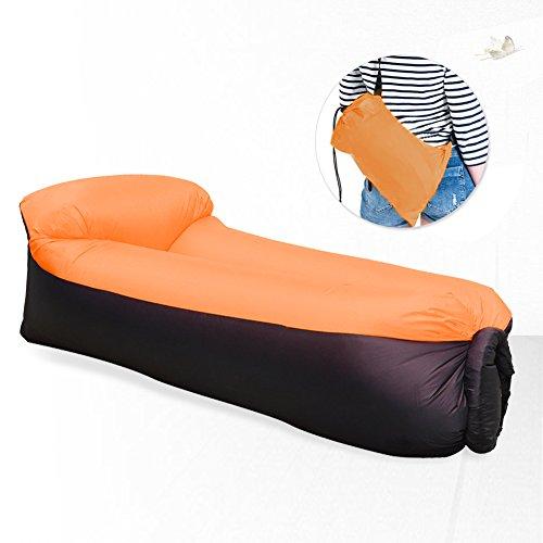 Waitiee Wasserdichtes aufblasbares Sofa mit integriertem Kissen,