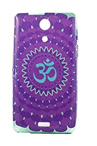 Purple Eyes Exclusive Printed TPU Silicon Back case Sony Xperia ZR M36H Om Purple