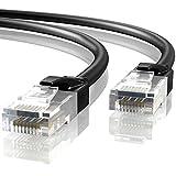 Mr. Tronic 100m Cavo di Rete Ethernet per Uso Esterno | CAT6, AWG24, CCA, UTP, RJ45 | Nero (100 Metri)