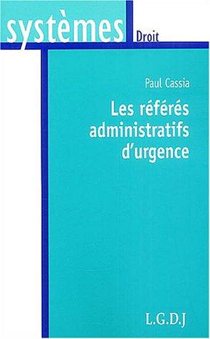 Les rfrs administratifs d'urgence