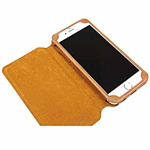 MACOON MC2503BRO Malpensa Rindslederhülle für Apple iPhone 6/6s Plus braun
