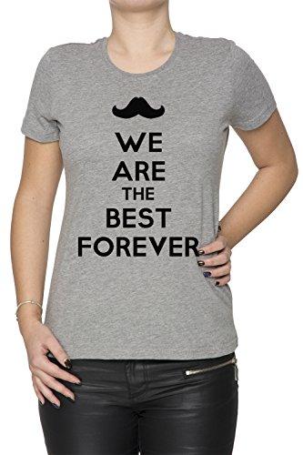 We Are The Best Forever Donna T-shirt Grigio Cotone Girocollo Maniche Corte Grey Women's T-shirt