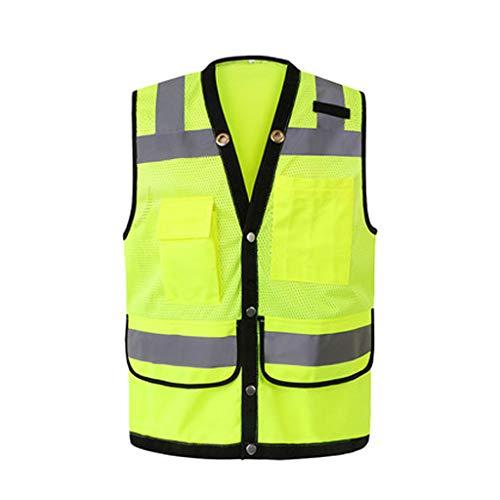 YuanYu Reflektierende Weste - Baustelle für Verkehrssicherheitsbekleidung Schutzkleidung Multifunktionsnachtverkehr Konstruktion Reflektierende Kleidung (Zwei Farbauswahl) Reflektierende Westen -
