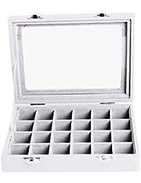 Boîte à Bijoux Rangement Organisateur 24 Compartiments - Gris